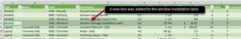 Add, Edit, or Remove Rows